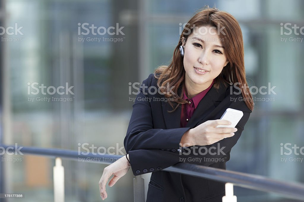 Beautiful businesswomen making phone call royalty-free stock photo