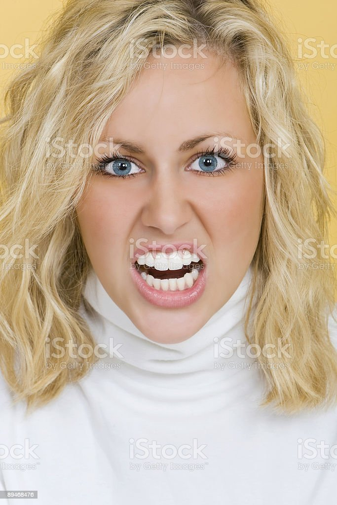 Beautiful But Angry royalty-free stock photo