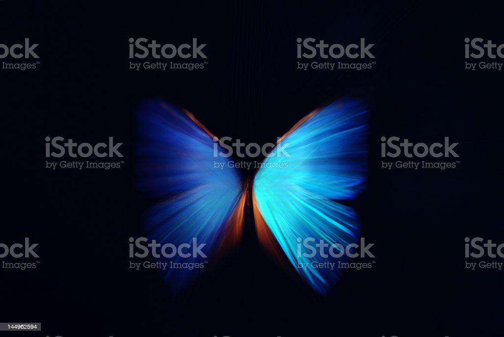 Beautiful butterfly blue abstract with zoom effect stock photo