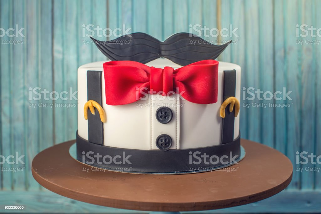 Remarkable Beautiful Cake For Men Decorated In The Form Of A Suit With A Bow Personalised Birthday Cards Epsylily Jamesorg