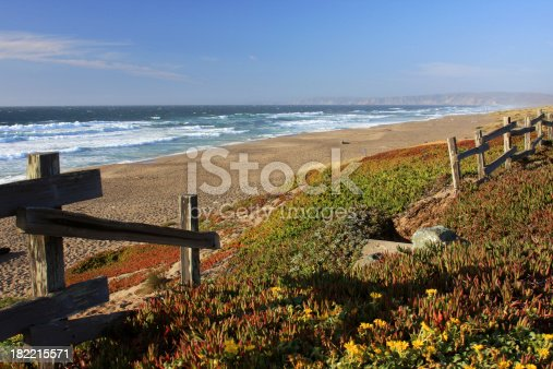 An old fence by a Ca. beach