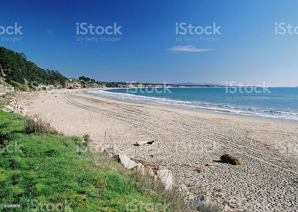 Beautiful California beach scene stock photo