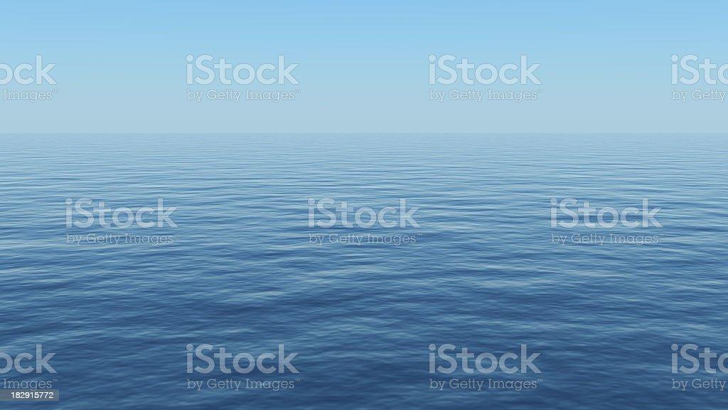 A beautiful calm blue sea that looks empty stock photo