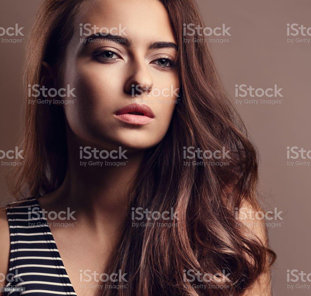 Long curly hair nude