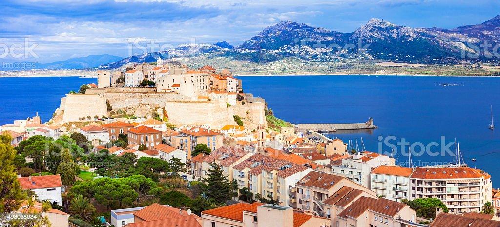 Beautiful  Calvi - Corsica island,France. stock photo