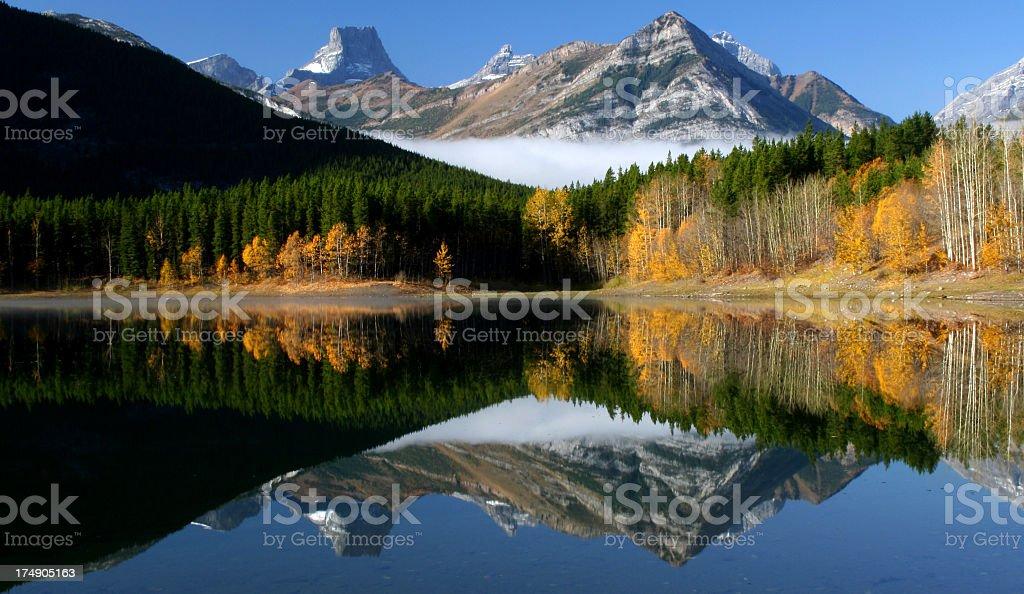 Beautiful Canadian Rockies Reflection royalty-free stock photo