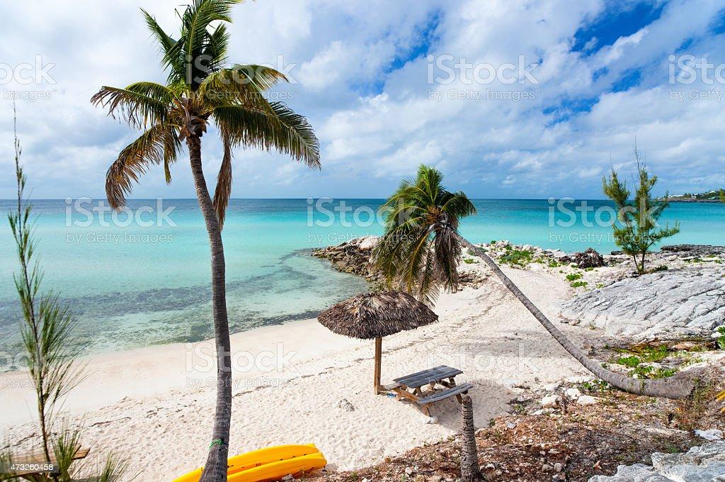 Beautiful Caribbean beach stock photo