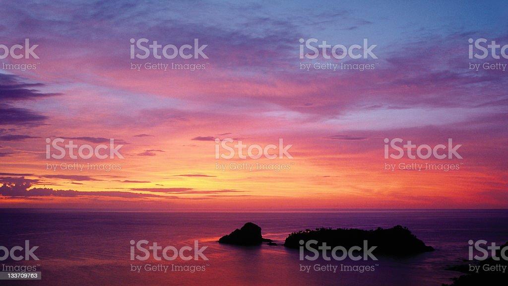 Beautiful caribbean dusk royalty-free stock photo