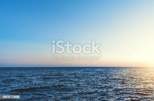 Beautiful Caribbean Sea at sunset