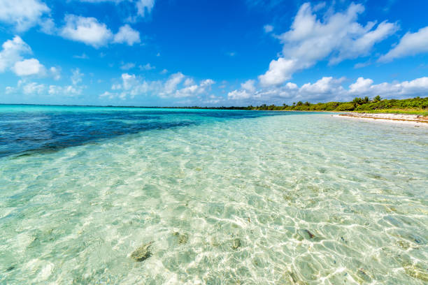 Beautiful Caribbean Sea stock photo