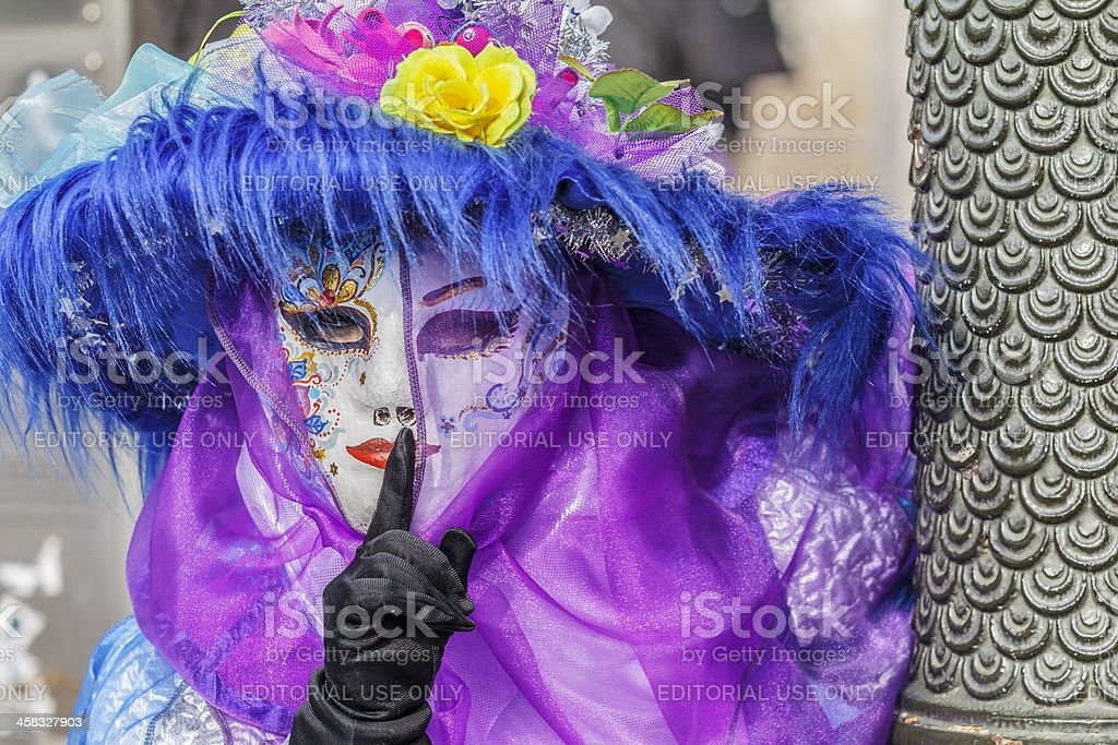 Beautiful carnival mask in Venice. royalty-free stock photo