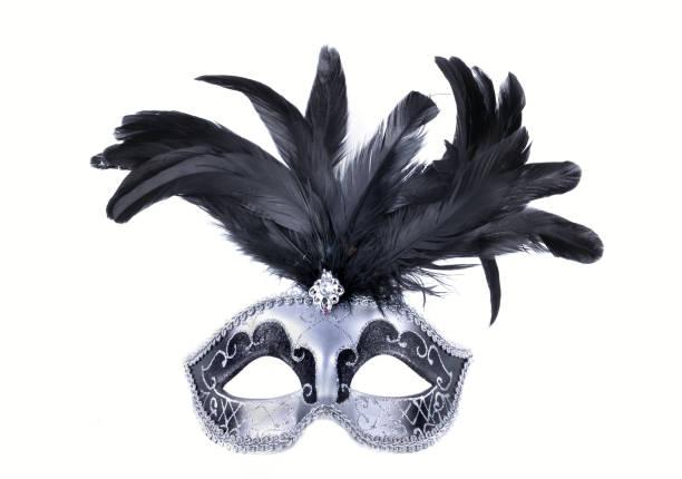 máscara de carnaval hermoso aislada - foto de stock