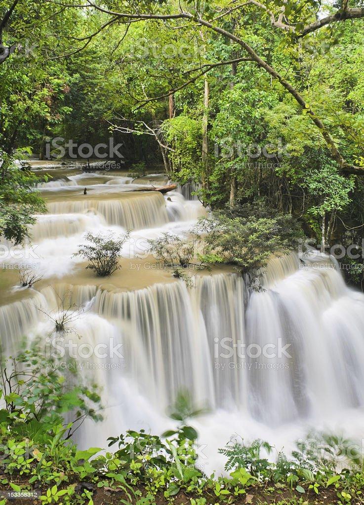 Beautiful cascade waterfall royalty-free stock photo