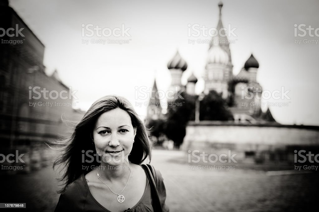 Beautiful casual Russian Woman royalty-free stock photo