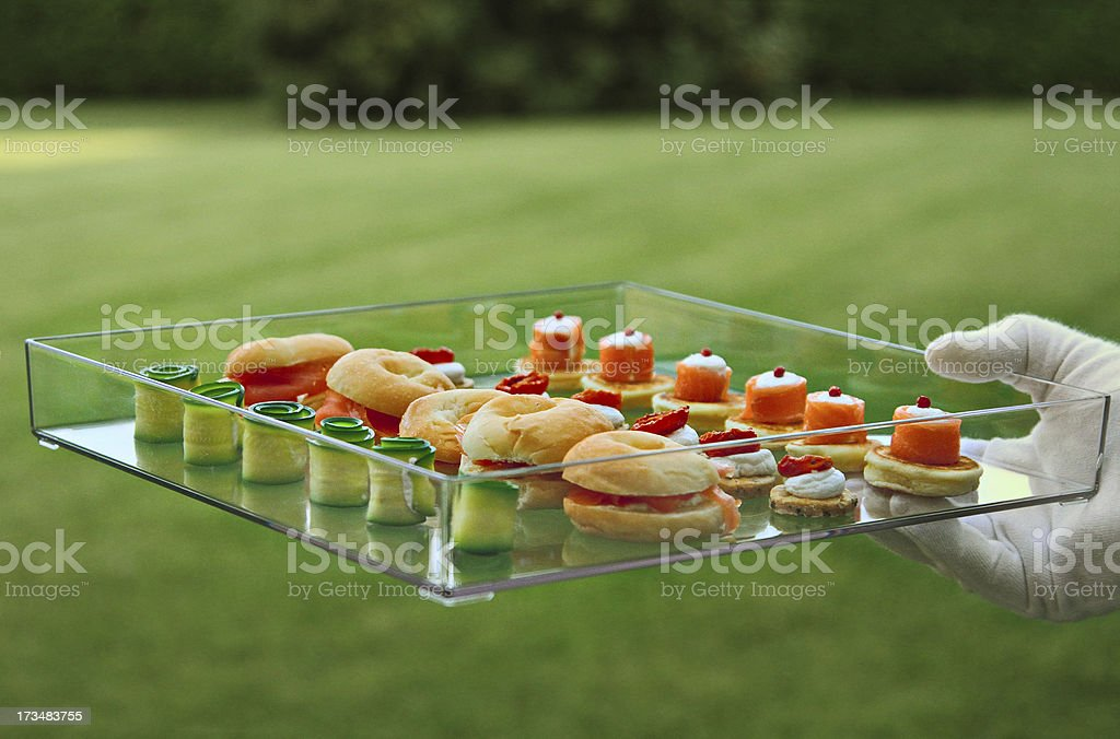 Beautiful catering on the grass royalty-free stock photo