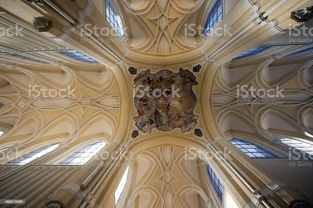 Beautiful Cathedral Interior stock photo