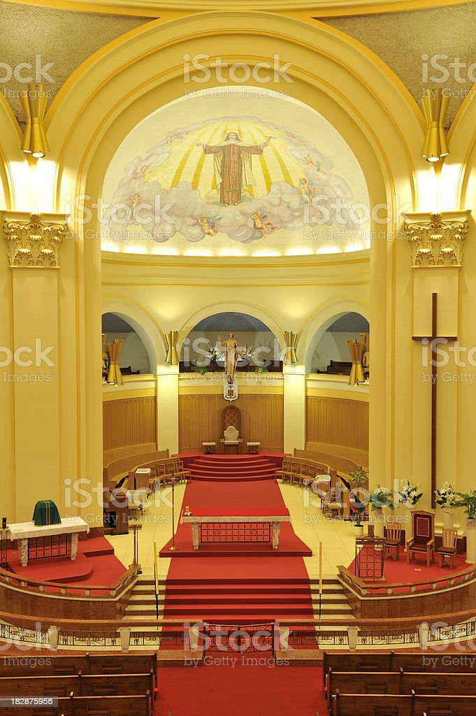 Beautiful Catholic Cathedral, church, Amos, Canada stock photo