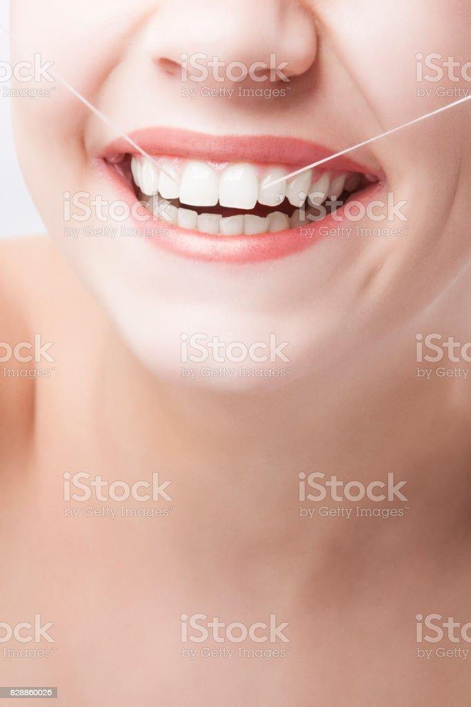Beautiful Caucasian Woman Smile. stock photo