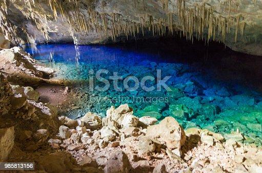 istock Beautiful cave of the City of Bonito in Matogrosso do Sul, Brazil. 985813156
