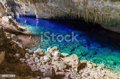 istock Beautiful cave of the City of Bonito in Matogrosso do Sul, Brazil. 985813364