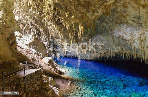 istock Beautiful cave of the City of Bonito in Matogrosso do Sul, Brazil. 985813786