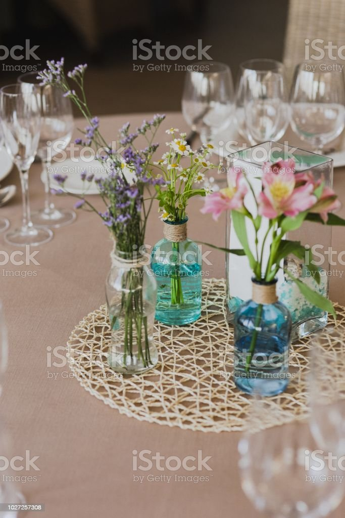 Beautiful Centerpieces With Vintage Decoration For Weddings Stock Photo Download Image Now Istock