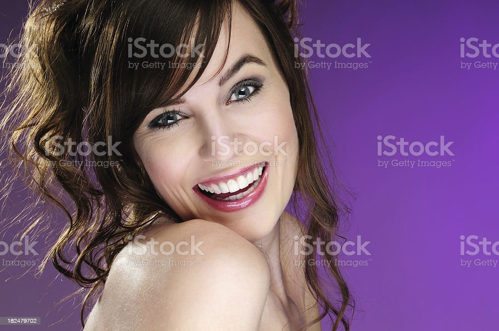 Beautiful cheerful model portrait royalty-free stock photo