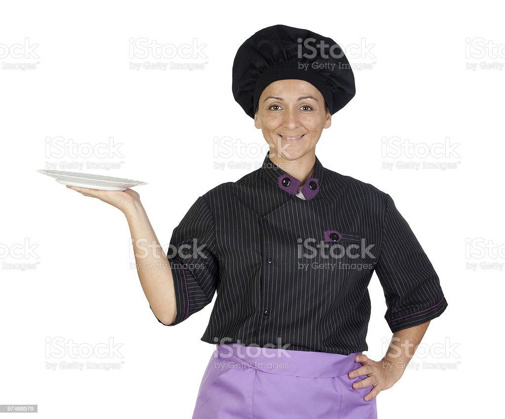 Beautiful chef girl royalty-free stock photo