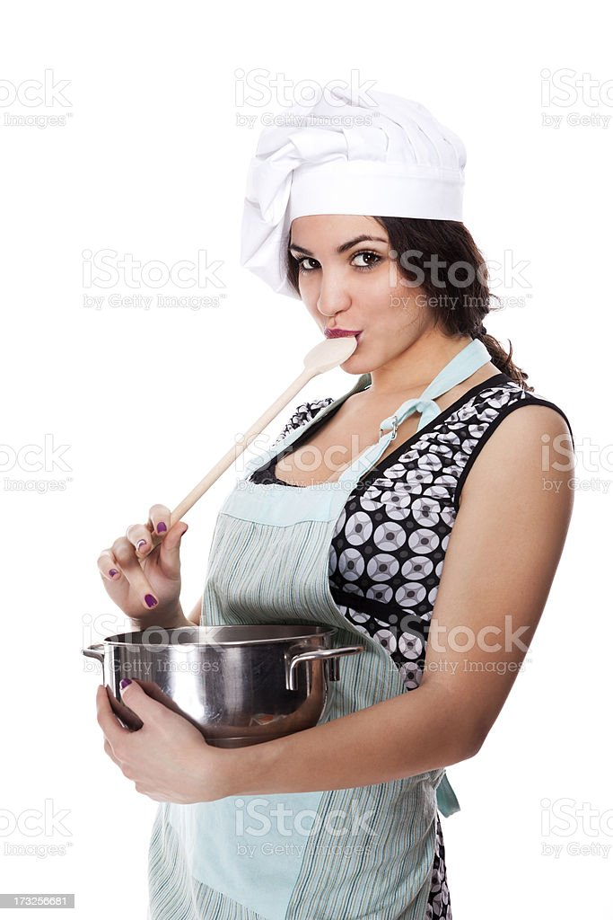 Beautiful chef royalty-free stock photo
