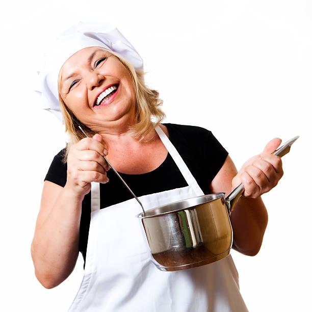 wunderschöne chefkoch - chefkoch auflauf stock-fotos und bilder