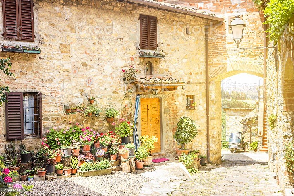 Beautiful Chianti Ancient Borough stock photo