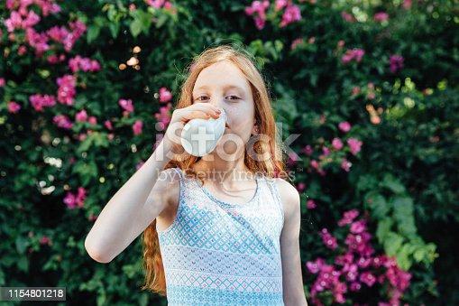 Beautiful Child Drinking Milk