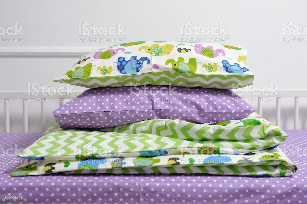 Beautiful children's bed stock photo