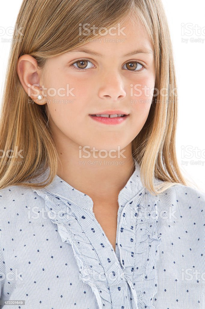 Beautiful child's portrait stock photo