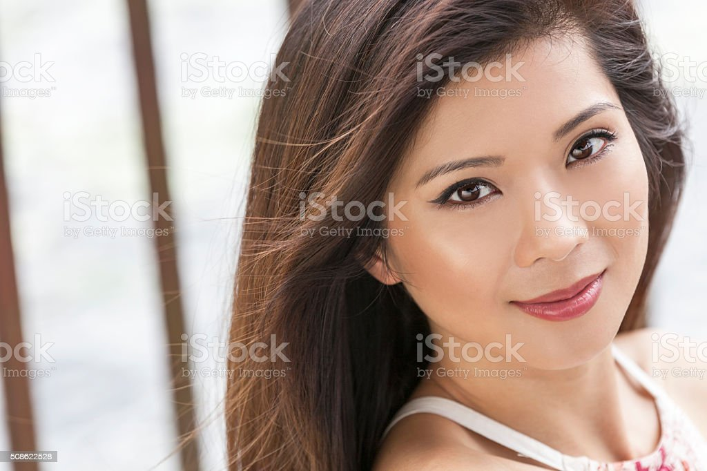 Beautiful Chinese Asian Young Woman Girl stock photo