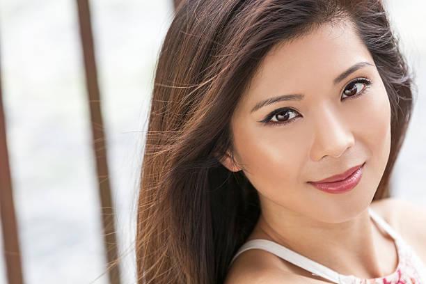Beautiful Chinese Asian Young Woman Girl stock photo