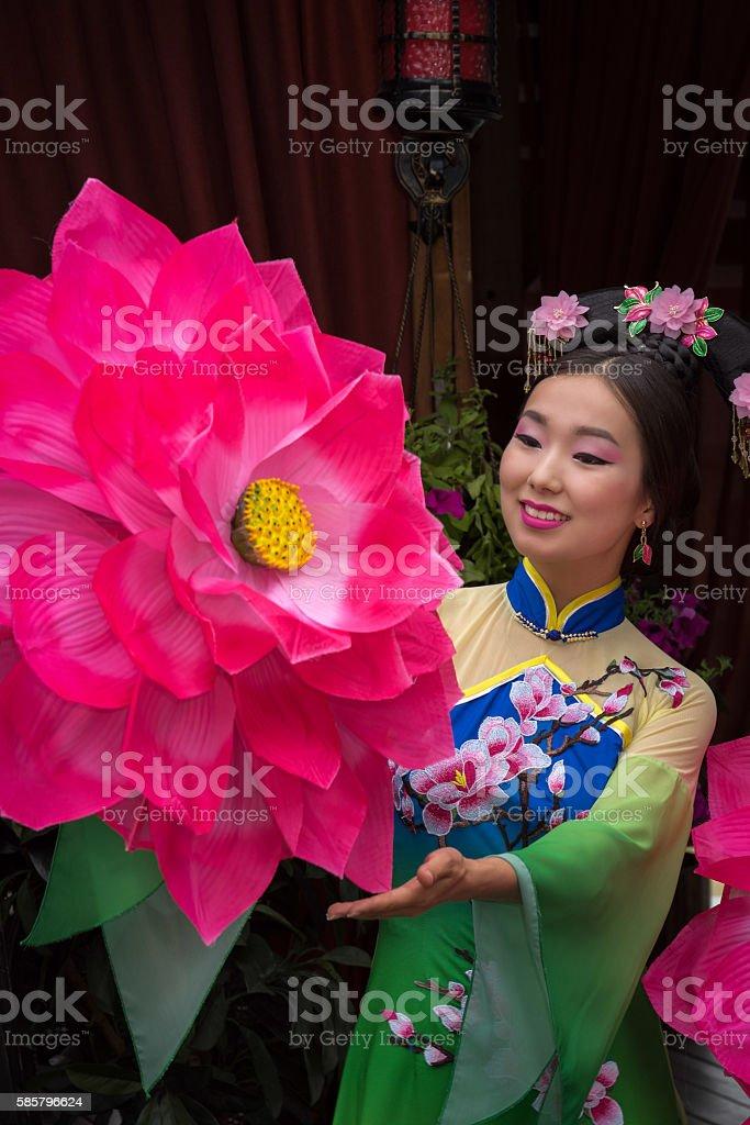 beautiful Chinese girl stock photo