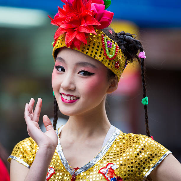 Belle fille souriant chinois - Photo