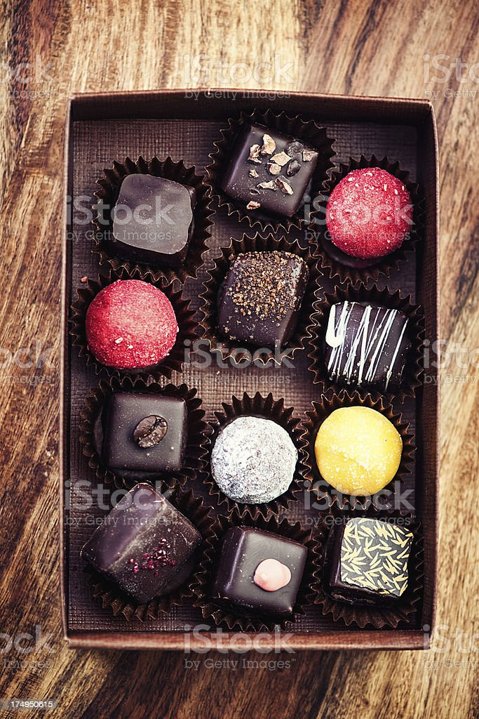 Royalty Free Chocolate Box In The Foreground Pictures Images And