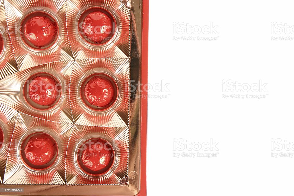 Beautiful chocolates stock photo