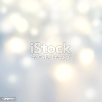 istock Beautiful Christmas background with silver lights and stars. 495357644