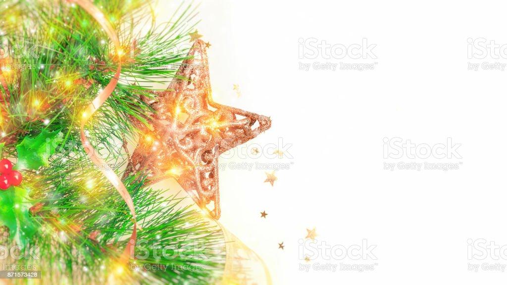 Beautiful Christmas border stock photo