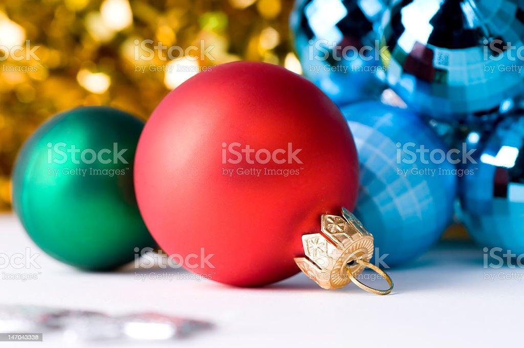 beautiful christmas color balls royalty-free stock photo