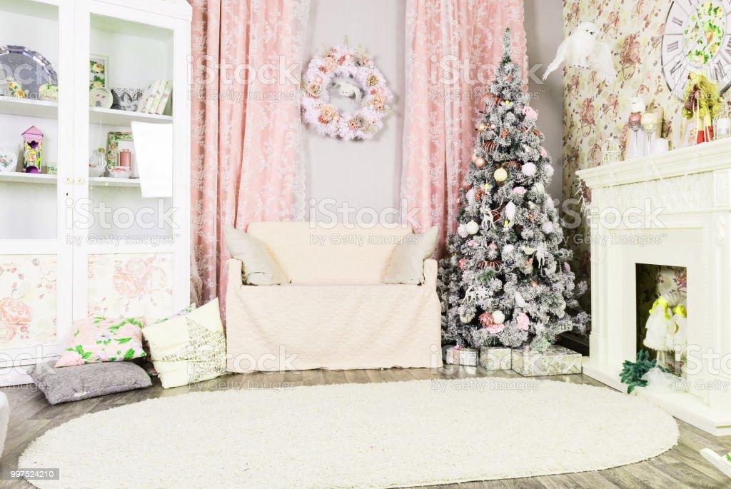 Photo libre de droit de Belle Décoration De Noël Chambre ...