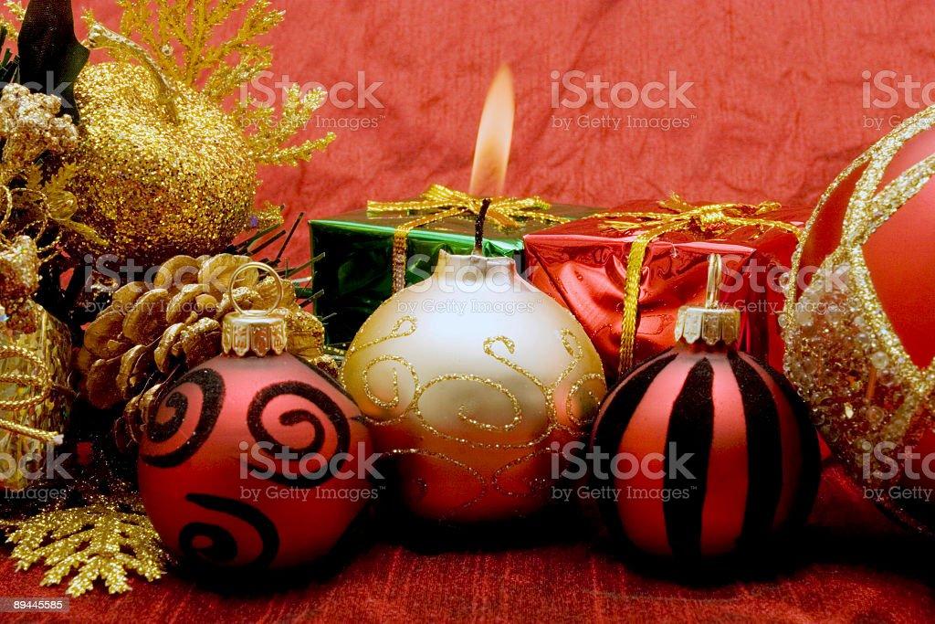 Superbes décorations de Noël photo libre de droits