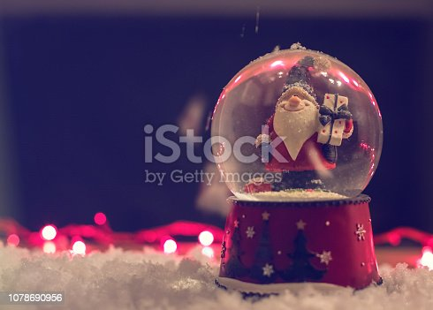 istock Beautiful Christmas Scene Home Decoration 1078690956