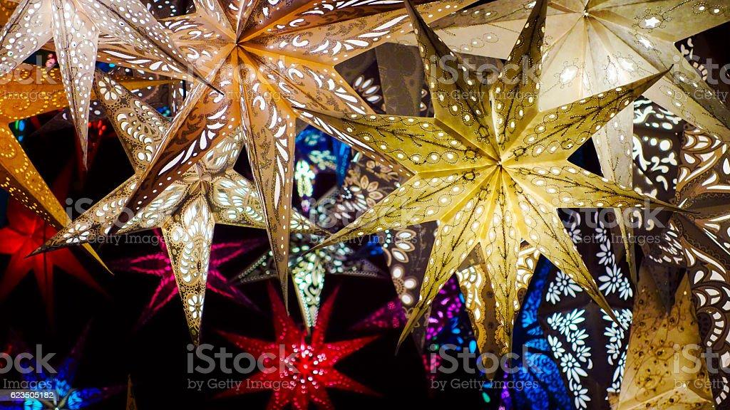 Beautiful Christmas Stars stock photo
