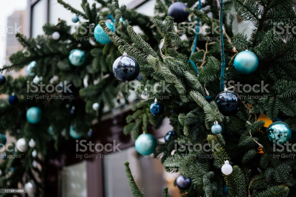 Beautiful Christmas Tree With Vintage Decorations Stock Photo Download Image Now Istock