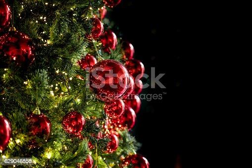 istock Beautiful Christmas with black copyspace 629046858