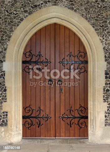 istock beautiful church door 185290148